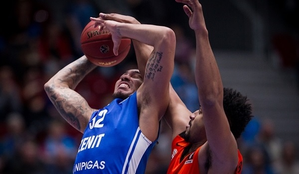 Regular Season, Round 9: Simonovic's 6 threes help Zenit hold off Ulm