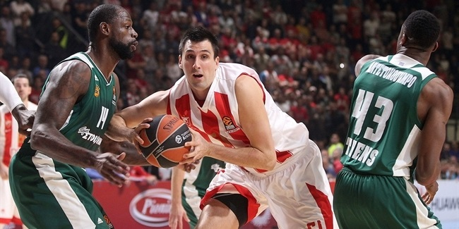 RS Round 14: Crvena Zvezda mts Belgrade vs. Panathinaikos Superfoods Athens