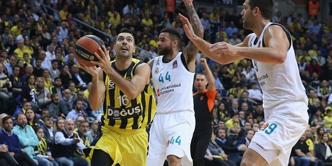 RS Round 15: Fenerbahce Dogus Istanbul vs. Real Madrid