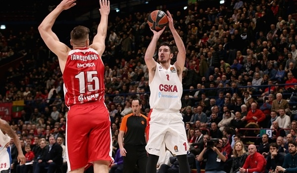 RS Round 17 report: De Colo shines, CSKA wins in Milan