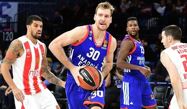 RS Round 17 report: Dragic leads Efes past Zvezda in high-scoring thriller