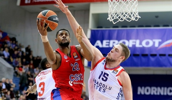 RS Round 18 report: CSKA fires in 18 threes in rout of Efes
