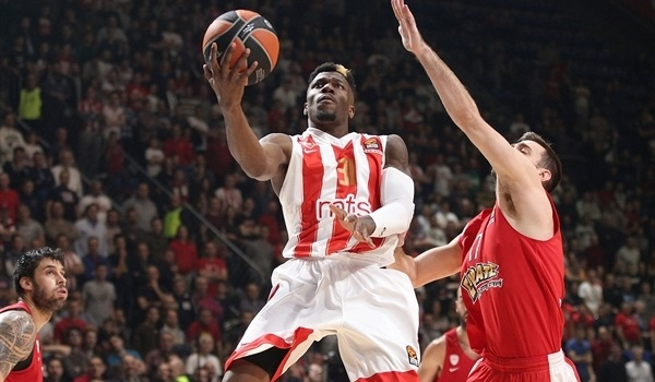RS Round 20 report: Ennis inspires Zvezda to comeback win over Olympiacos
