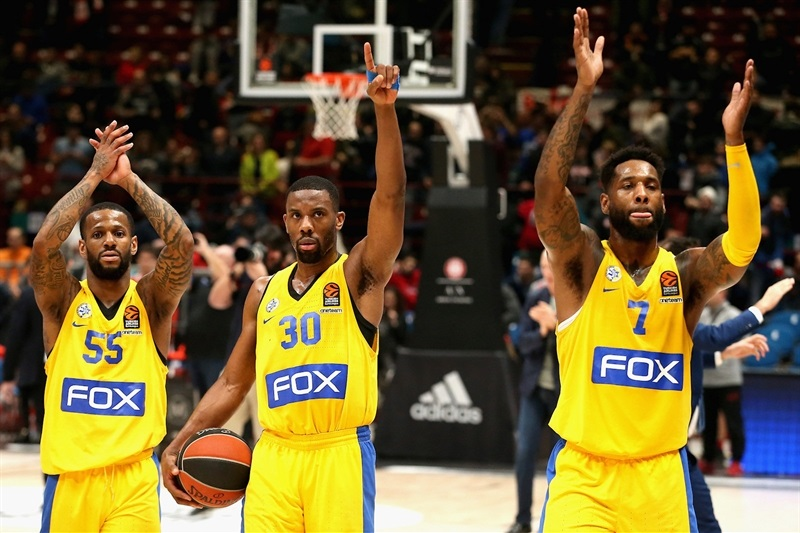 Players Maccabi FOX Tel Aviv celebrates - EB17
