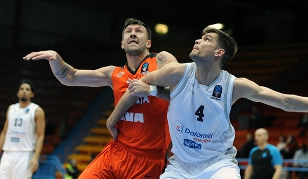 Top 16, Round 5: Trento holds off Cedevita