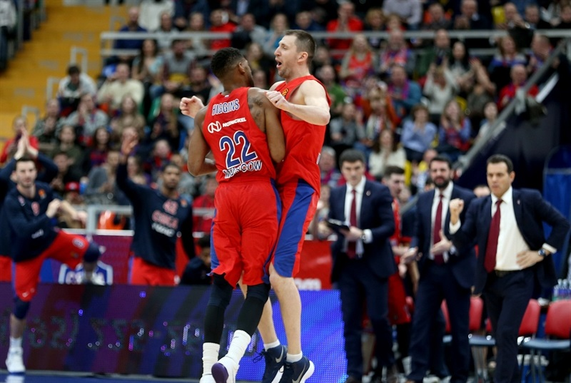 Cory Higgins and Vitaly Fridzon celebrates - CSKA Moscow - EB17