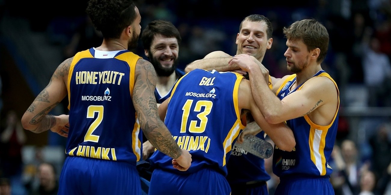 Players Khimki Moscow Region celebrates - EB17