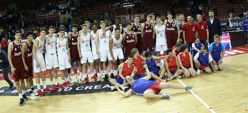 Players U18 FC Bayern Munich and U18 Real Madrid - ANGT Munich 2018 (photo Matthias Stickel - FCBB) JT17