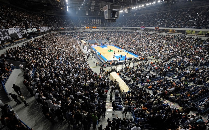 Balgrade Arena, Partizan vs. Panathinaikos with the record attendance