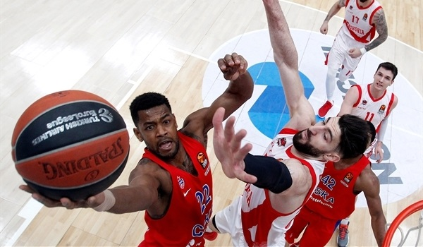 RS Round 23 report: CSKA Moscow beats Baskonia to clinch playoff spot