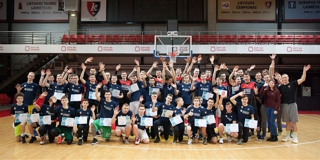 Lietuvos Rytas One Team season closes surprise visit from players