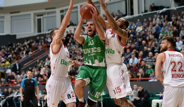 Quarterfinals Game 2: UNICS rallies to even series with Bayern