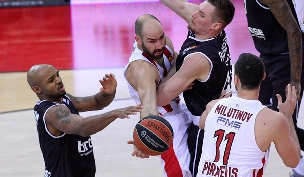 RS Round 25 report: Olympiacos fends off Brose in Piraeus