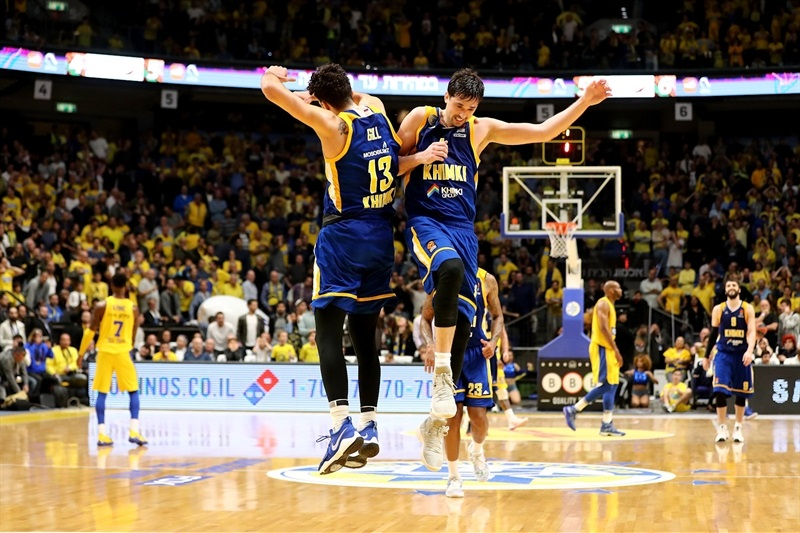 Anthony Gill and Alexey Shved celebrates - Khimki Moscow Region - EB17