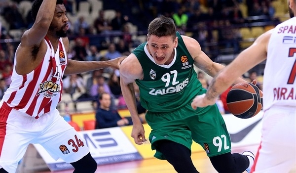 RS Round 30 report: Jankunas lifts Zalgiris past Olympiacos in OT