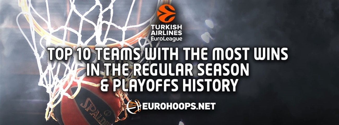 Top 10 Teams with the Most Wins in the Regular Season & Playoffs in EuroLeague History