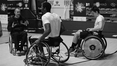 Fiat Turin take part in wheelchair game for One Team
