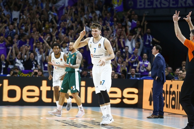 Luka Doncic celebrates - Real Madrid - EB17