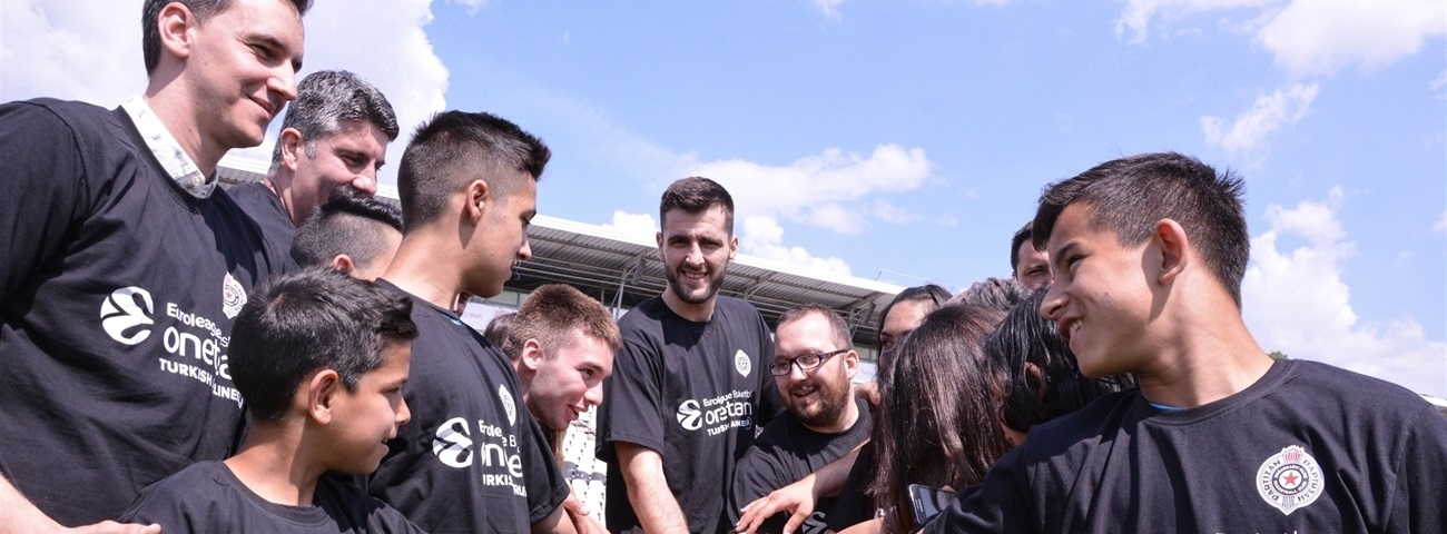 Partizan's fairy tale story inspires One Team children