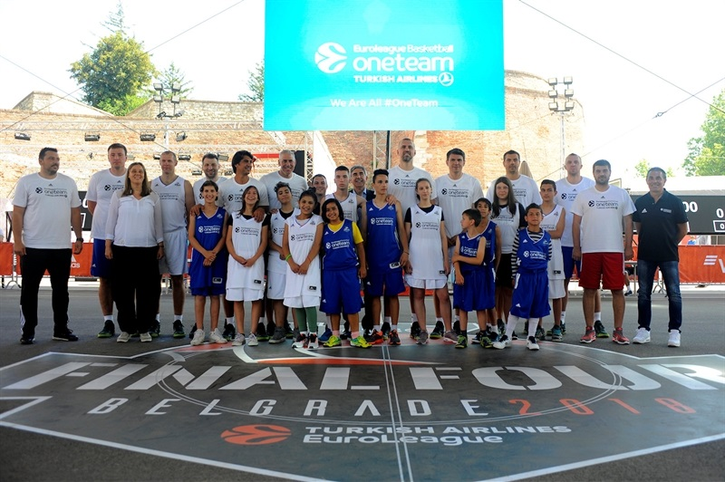 One Team Session & Ambassadors Exhibition Game in FanZone - Belgrade 2018 - EB17