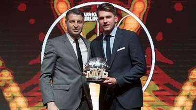 Madrid's Doncic, crowned 2017-18 Turkish Airlines EuroLeague MVP