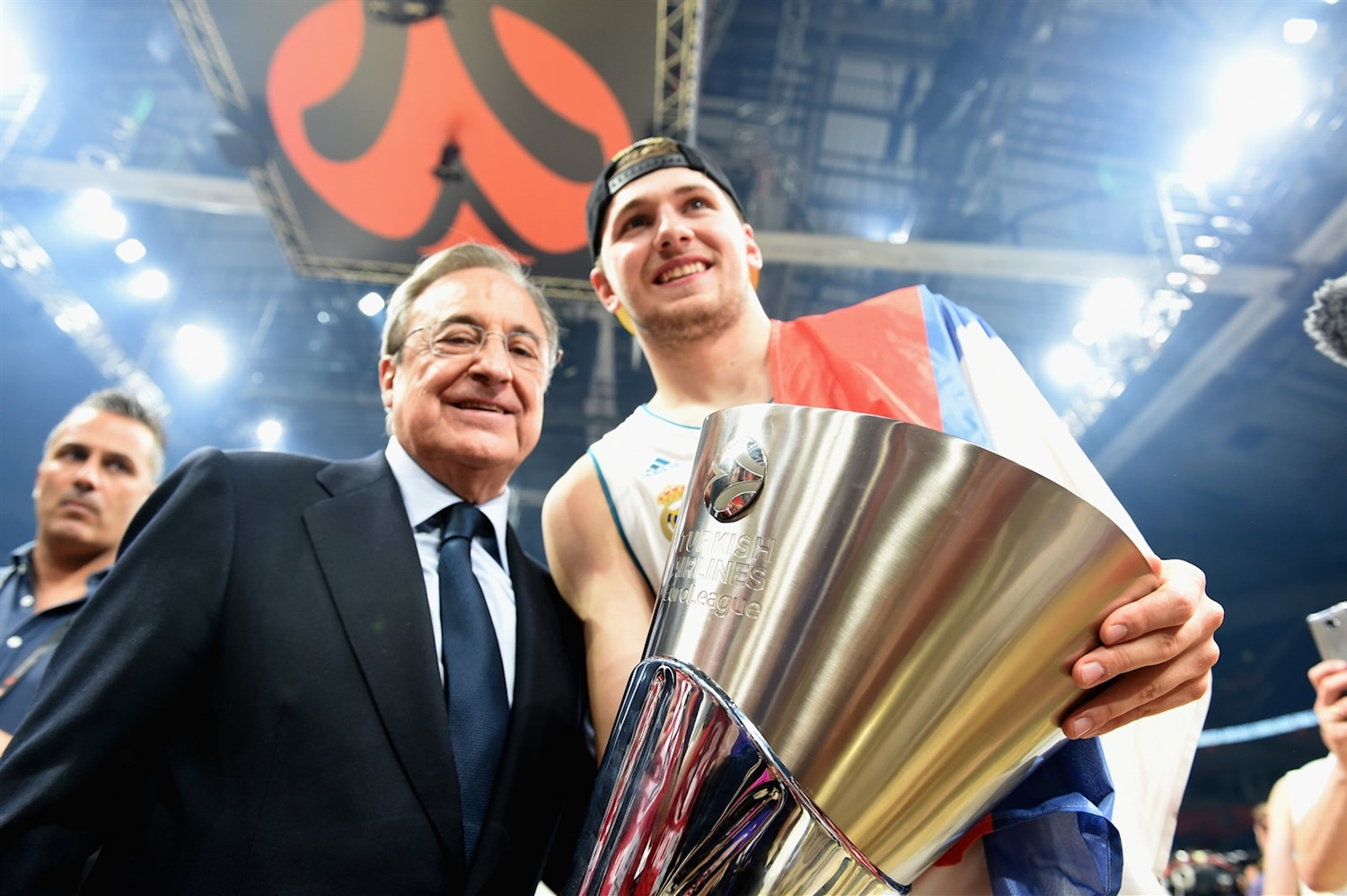 Florentino Perez and Luka Doncic - Real Madrid Champ EuroLeague 2017-18 - Belgrade 2018 - EB17_8r4xjrxxyax6vjw5