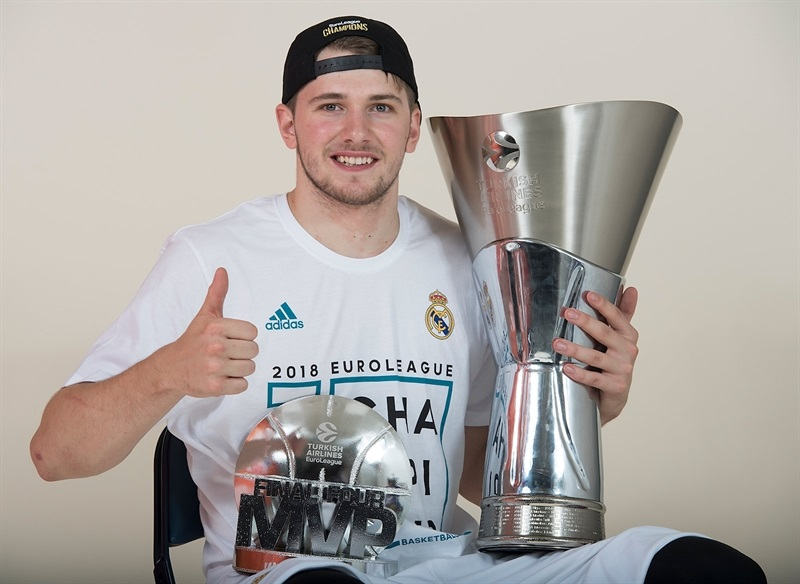 Luka Doncic - Real Madrid  trophy photo shoot - Belgrade 2018 - EB17
