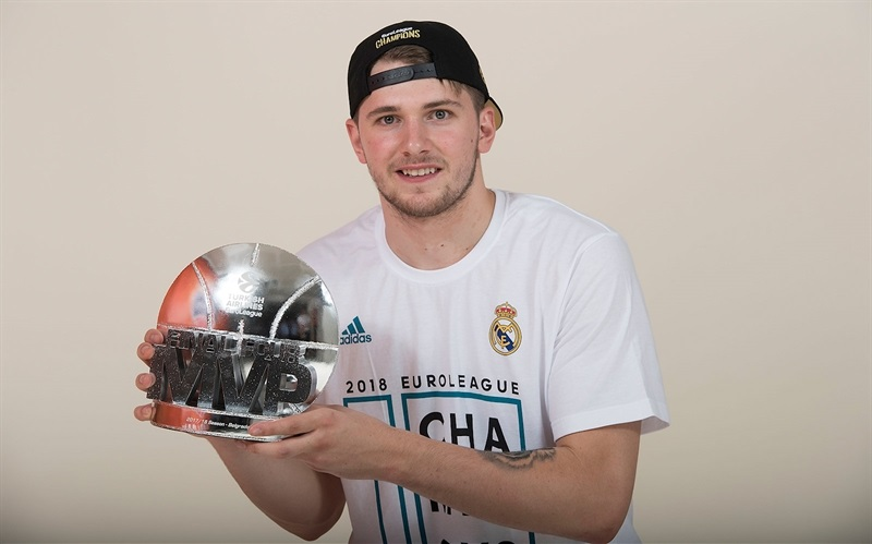 Luka Doncic MVP - Real Madrid  trophy photo shoot - Belgrade 2018 - EB17