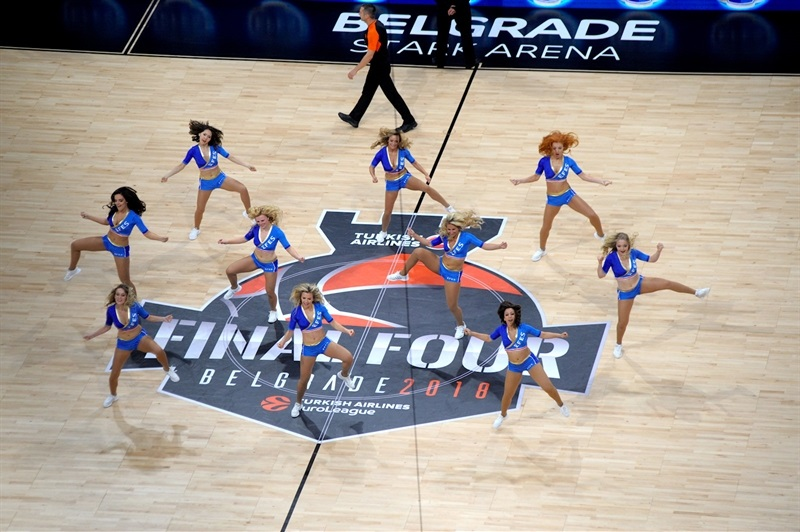 EFES EuroLeague Dancing squad Show in Stark Arena - Belgrade 2018 - EB17
