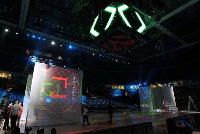 Preparation Light Show in Stark Arena - Belgrade 2018 - EB17