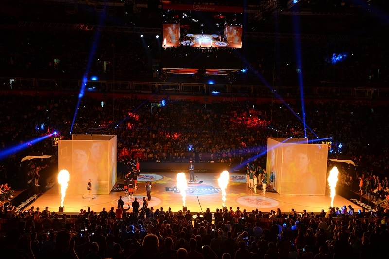 Light Show Semifinals  in Stark Arena -  Belgrade 2018 - EB17