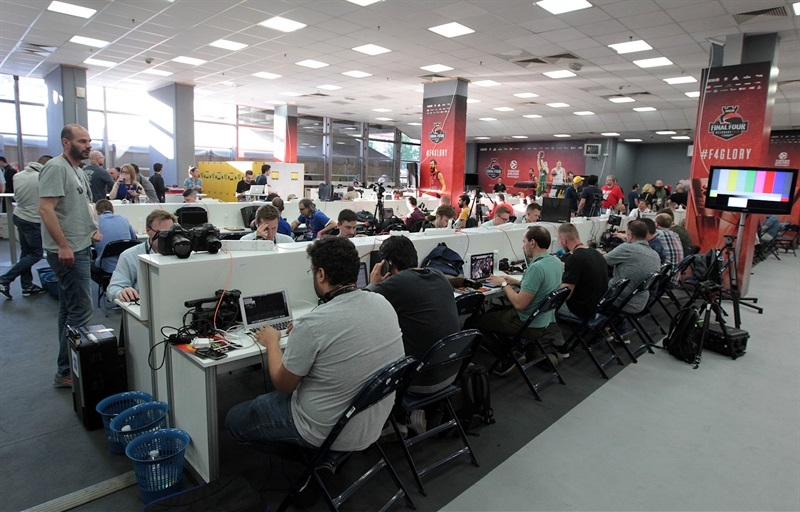 Media area - Stark Arena - Belgrade 2018 - EB17
