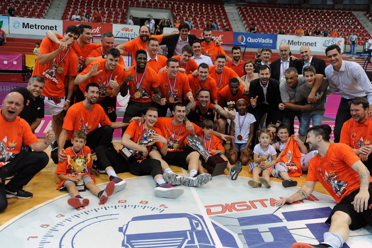 Cedevita is 2018 Croatian League champion (Photo kkcedevita.hr)