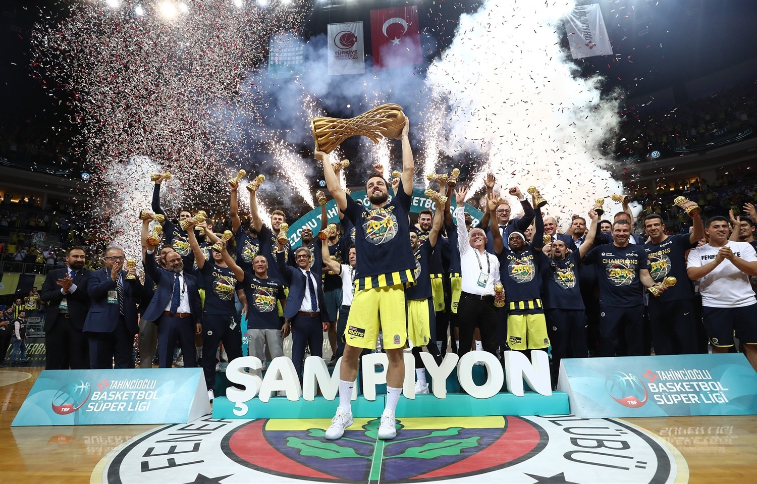 Fenerbahce Dogus Istanbul is the 2018 Turkish League champion