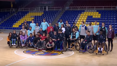 Barcelona shares court with One Team wheelchair players
