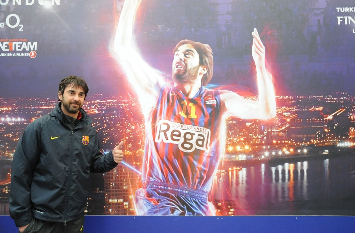 Juan Carlos Navarro at the 2013 Final Four in London