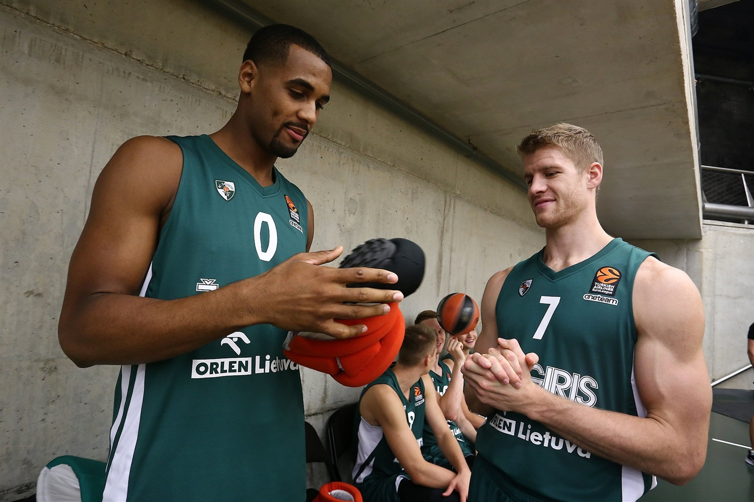 Brandon Davies and Thomas Walkup - Zalgiris Kaunas Media Day 2018 - EB18