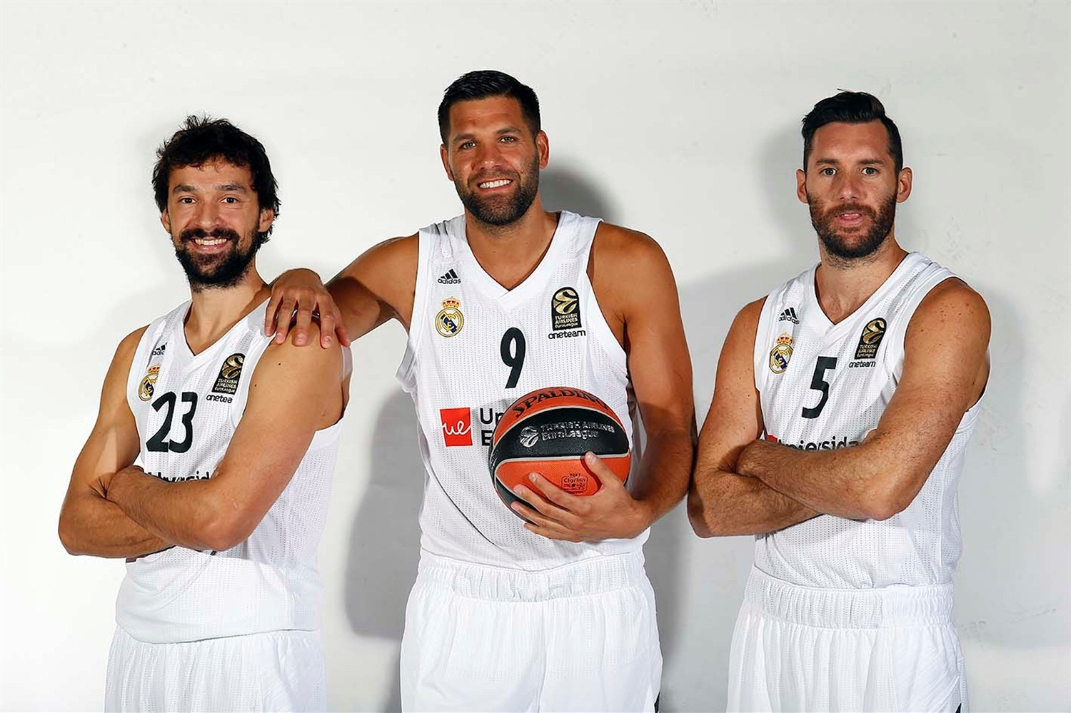Sergio Llull, Felipe Reyes and Rudy Fernandez - Real Madrid Media Day 2018 - EB18