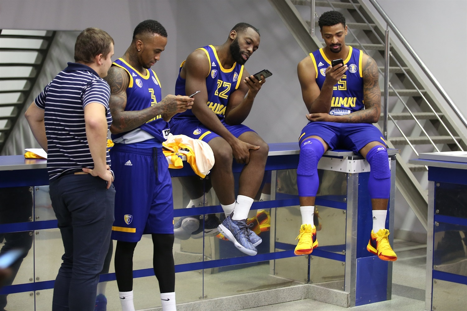 Bost, Jenkins and Mickey - Khimki Moscow Region Media Day 2018 - EB18