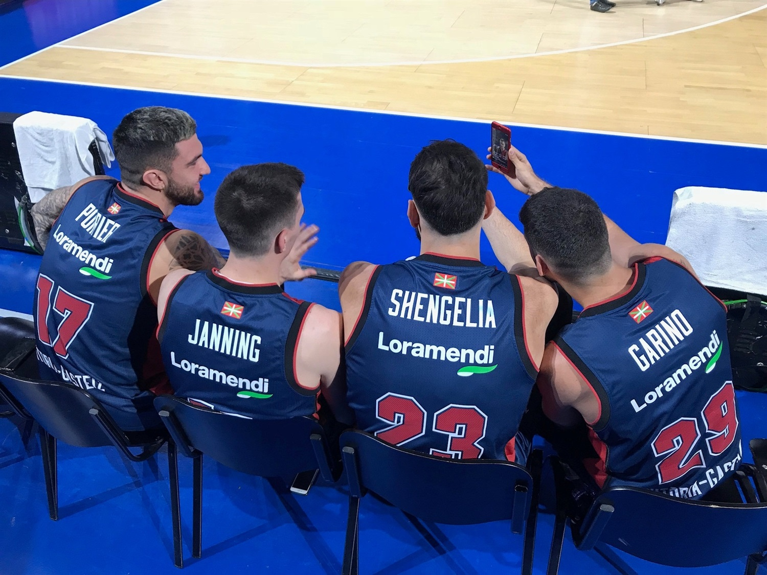 Players KIROLBET Baskonia Vitoria Gasteiz in Media Day 2018 - EB18