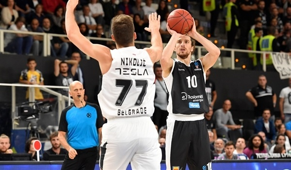Trento holds off Partizan for opening win