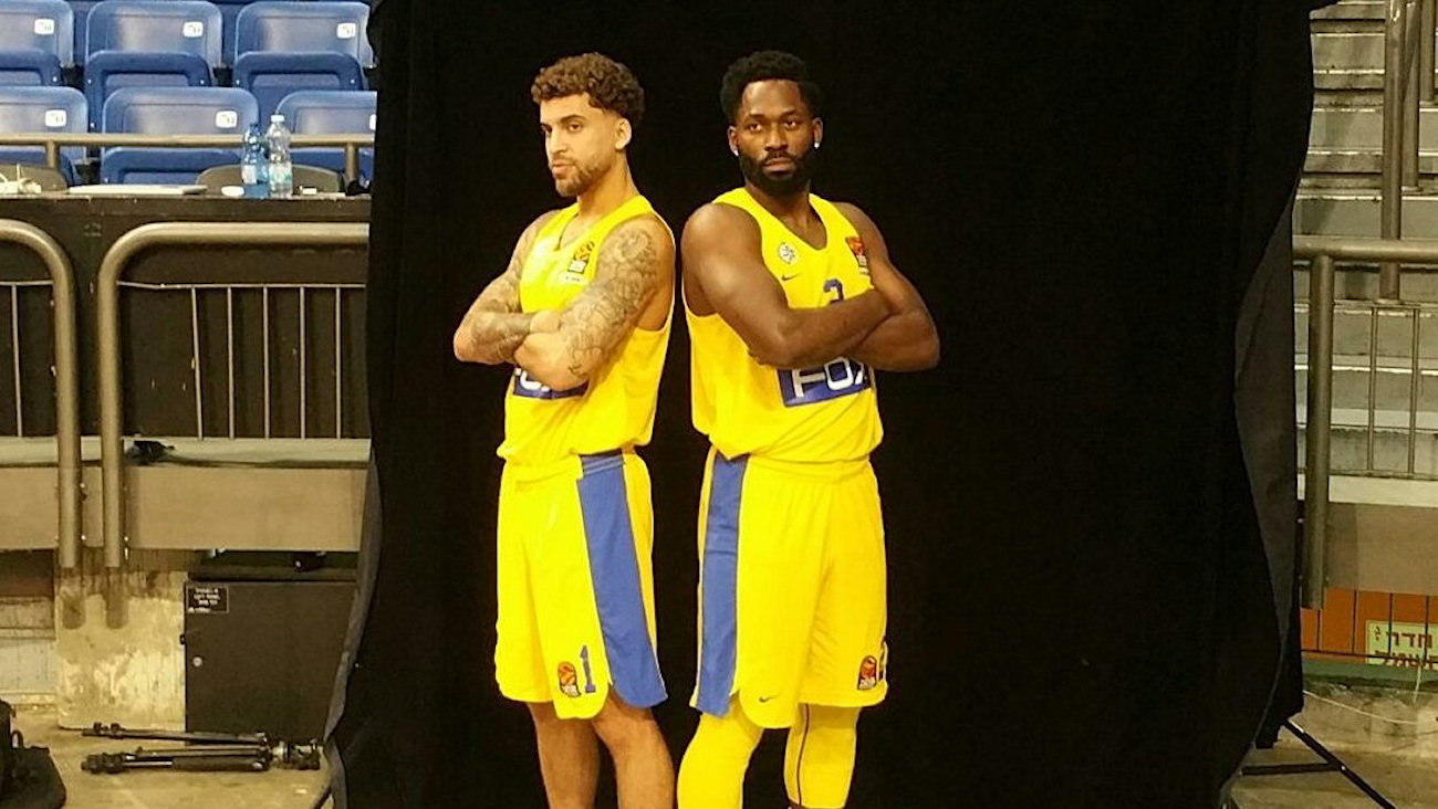 Scottie Wilbekin and Jeremy Pargo - Maccabi FOX Tel Aviv Media Day 2018 (photo Maccabi) - EB18