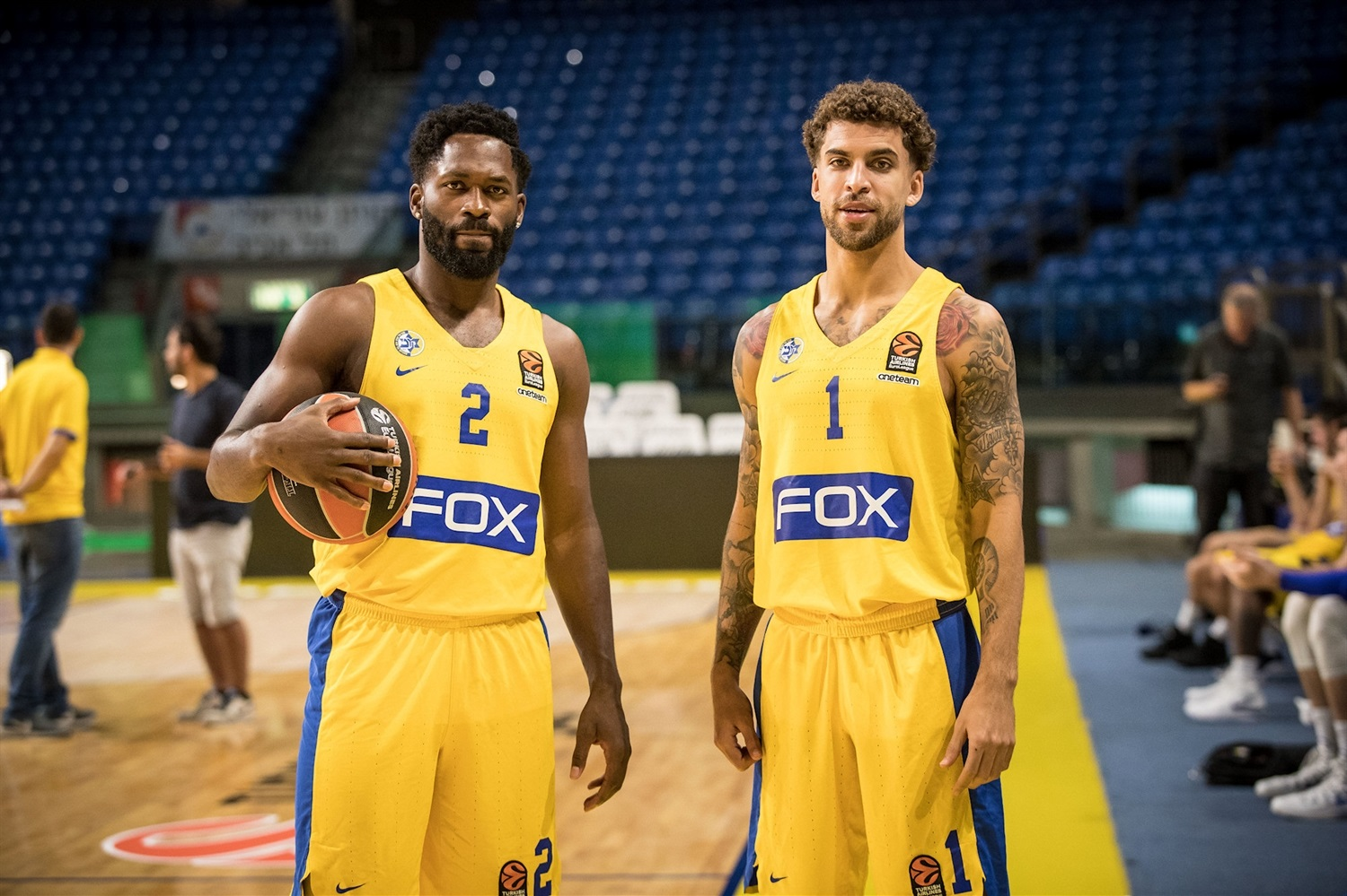 Jeremy Pargo and Scottie Wilbekin - Maccabi FOX Tel Aviv Media Day 2018 - EB18