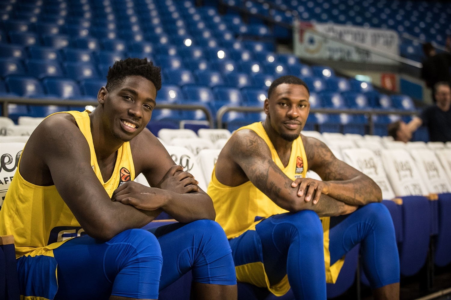 Johnny OBryant and Tarik Black - Maccabi FOX Tel Aviv Media Day 2018 (photo Maccabi) - EB18