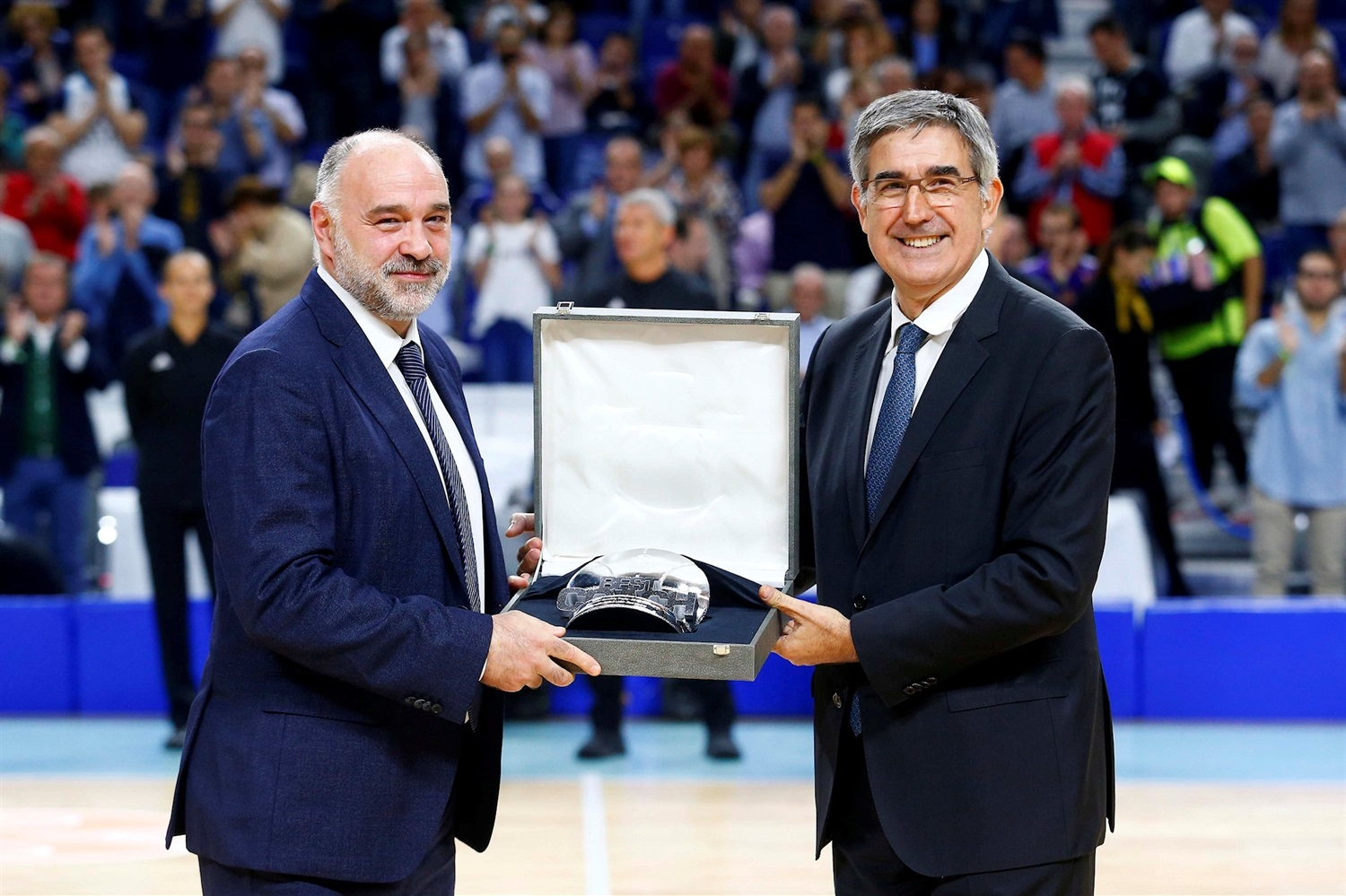 Pablo Laso, Best coach with Jordi Bertomeu - Real Madrid - EB18