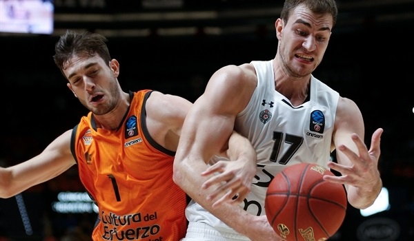 RS Round 3: Valencia stats perfect by downing Partizan