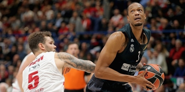 Round 2 co-MVPs: Nikola Milutinov, Olympiacos and Anthony Randolph, Madrid