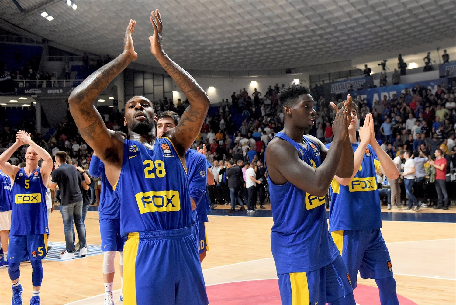 Tarik Black celebrates - Maccabi FOX Tel Aviv - EB18