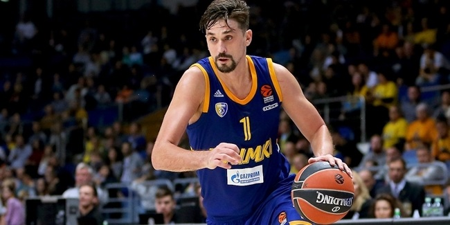 Khimki loses top scorer Shved for one month