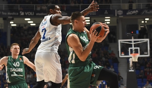 RS Round 6 report: Zalgiris defeats Buducnost to stay perfect on the road